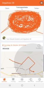 Screenshot der Equisense App